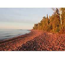 Red Rocks of Lake Superior Photographic Print