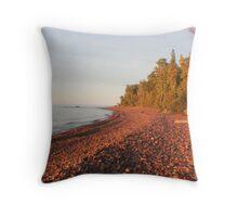 Red Rocks of Lake Superior Throw Pillow