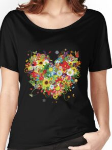 Pretty floral heart Women's Relaxed Fit T-Shirt