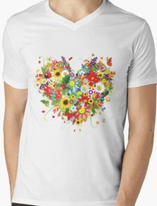 Pretty floral heart T-Shirt