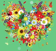 Pretty floral heart by Olga Chetverikova