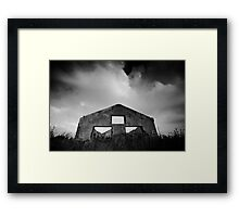 gloomy life of stand alone construction Framed Print