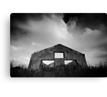 gloomy life of stand alone construction Canvas Print