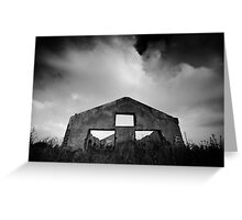 gloomy life of stand alone construction Greeting Card