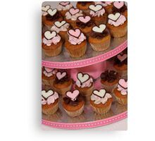 Mini Heart Cakes Canvas Print