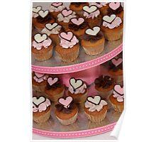 Mini Heart Cakes Poster