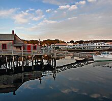 -Boothbay Harbor,  Maine by T.J. Martin