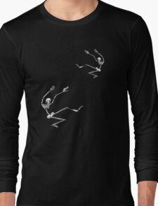 Falling Skeletons Long Sleeve T-Shirt