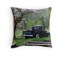 The Old Black Truck Throw Pillow