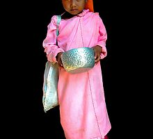 NOVICE NUN - BURMA by Michael Sheridan