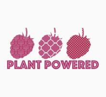 'Plant Powered' Vegan raspberry design Baby Tee