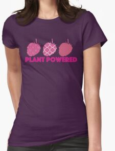 'Plant Powered' Vegan raspberry design T-Shirt