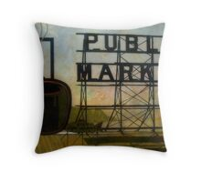The Perfect View, Public Market, Seattle, WA Throw Pillow