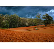 0701 Working the Fields Photographic Print