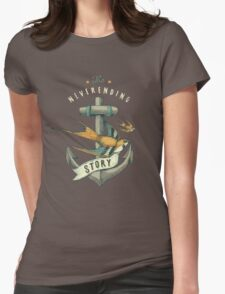 Anchor | Petrol Grey Womens Fitted T-Shirt