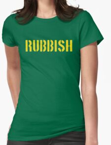 RUBBISH Womens Fitted T-Shirt