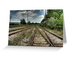TRACKS TO NOWHERE Greeting Card