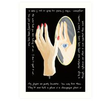 The Mannequin - Left Hand Art Print