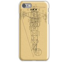Airplane drawing iPhone Case/Skin