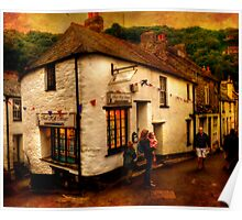 Polperro Streets Poster