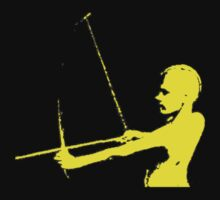 Black and Gold Archer Kids Tee