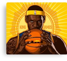 KING JAMES REIGNS Canvas Print