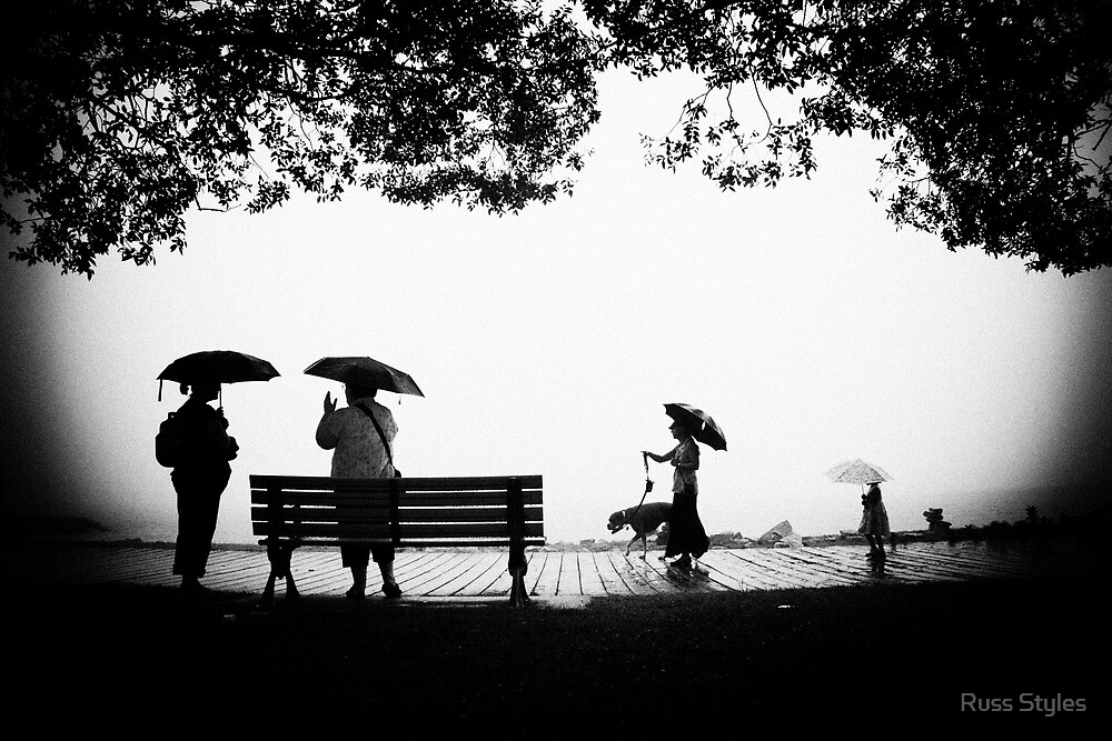 """""""you can stand under my umbrella"""".... by Russ Styles"""
