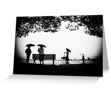 """you can stand under my umbrella"".... Greeting Card"