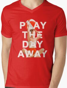 Play The Day Away Mens V-Neck T-Shirt