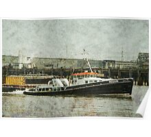 Tug Boat with textured effect Poster
