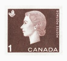 Canada 1963 Queen Cameo Series Postage Stamp - Crystal One Piece - Short Sleeve