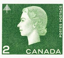 Canada 1963 Queen Cameo Series Postage Stamp - Forest by Deb Richardson