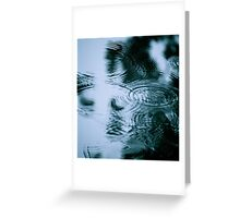 Rainy Day Blues Greeting Card