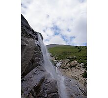 Waterfall at Grossglockner Austria Photographic Print