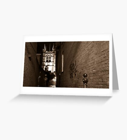 Classic Architecture meets Urban Art Greeting Card