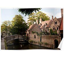 Centre of Medieval Bruges Poster