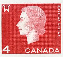 Canada 1963 Queen Cameo Series Postage Stamp - Electricity by Deb Richardson