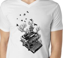 Haunting Words Mens V-Neck T-Shirt