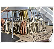 Ropes of sailing Vessel - Antwerp - Belgium Poster