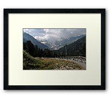 Morteratsch Glacier Pontresina, Switzerland Framed Print