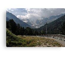 Morteratsch Glacier Pontresina, Switzerland Canvas Print