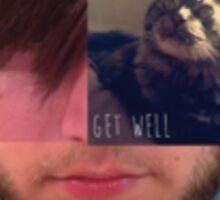Get Well Three Face Logo Sticker