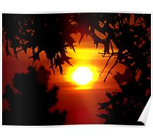 Sunset on Water Tower Road Poster