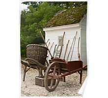Colonial Garden Tools  Poster