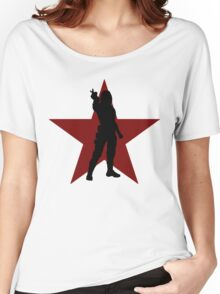 Winter Soldier Silhouette  Women's Relaxed Fit T-Shirt