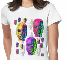 """Female Wireframe Heads""© Womens Fitted T-Shirt"