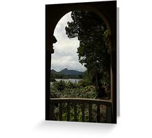 Italian temple view Greeting Card