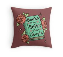 Books > People Throw Pillow