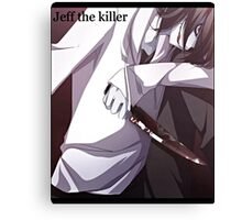 Jeff The Killer - Bloody Mess Canvas Print