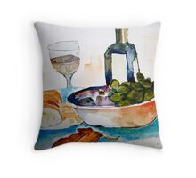Lunch in Italy Throw Pillow